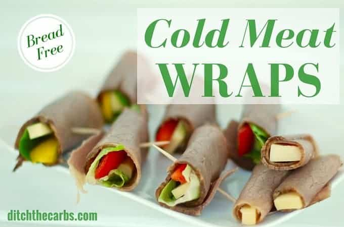 These are such a great alternative to wraps or sandwiches. Cold meat wraps are so easy and fabulous as lunch or a snack. Low carb and grain free. | ditchthecarbs.com