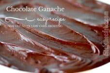 The ultimate low carb frosting - easy chocolate ganache. Can be used in SOOO many recipes. | ditchthecarbs.com