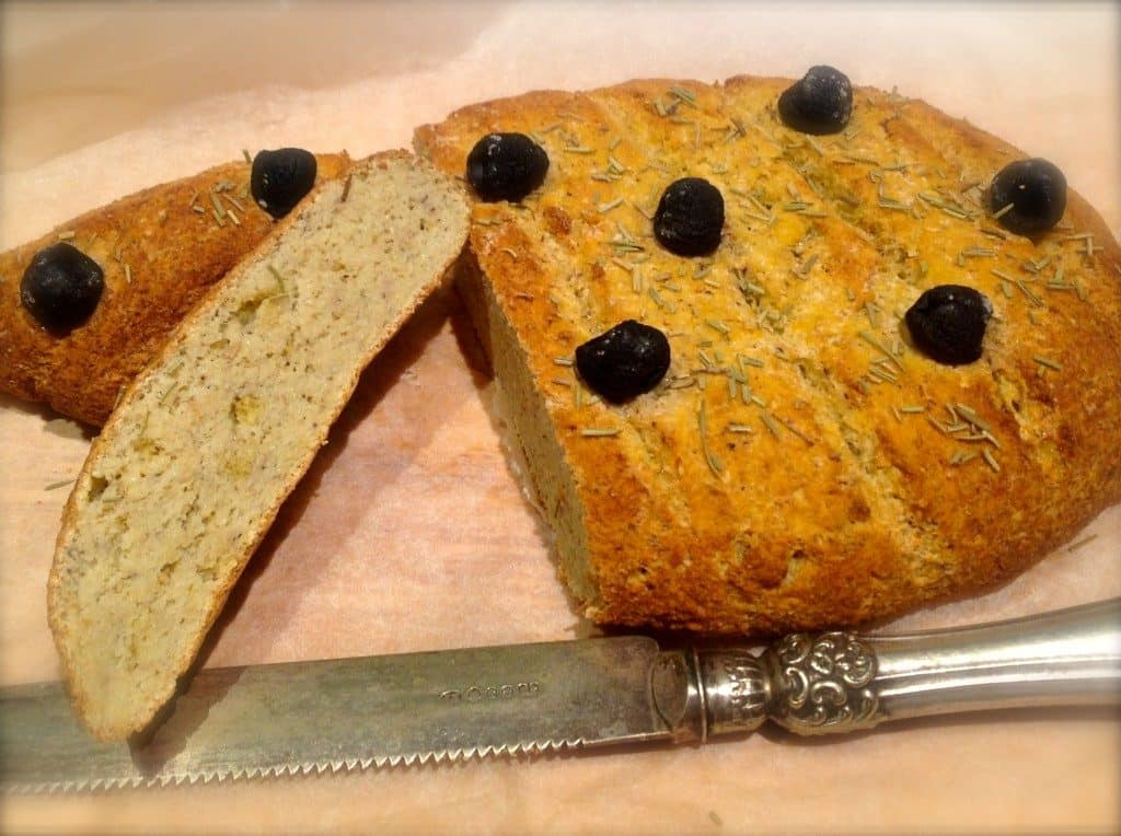 Low Carb Focaccia bread with Rosemary and Olives - wheat and gluten ...