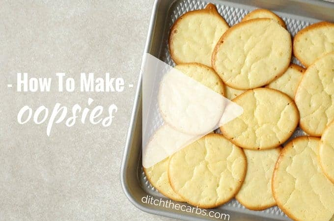 "Watch the quick video ""How To Make Oopsies"". Oopsies are an absolute classic recipe for those who are low carb, gluten free, grain free and sugar free. 