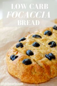 Low carb focaccia bread - can be made as rolls, panini or even a pizza base. | ditchthecarbs.com