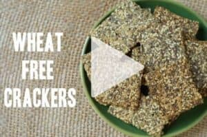 "Watch the quick cooking video ""How to make wheat free crackers"". An easy recipe for amazing grain free, gluten free and low carb crackers. 