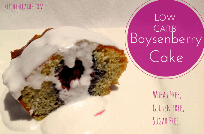 Wheat Free Boysenberry Cake | ditchthecarbs.com