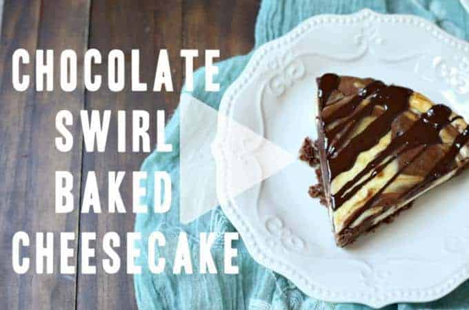 Whoah!! Amazing low carb and gluten free chocolate swirl baked cheesecake AND with a quick cooking video to see how easy it is to make at home. | ditchthecarbs.com