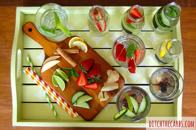 Flavoured water ideas | ditchthecarbs.com