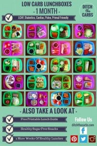 Low Carb Kids 6 :: 1 month of school lunchbox ideas. These are are all low carb,