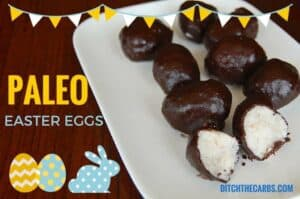 You simply have to try these Paleo Easter Eggs. They are grain free, egg free, dairy free, gluten free, nut free and full of deliciousness. Take a look at all the other amazing recipes. | ditchthecarbs.com