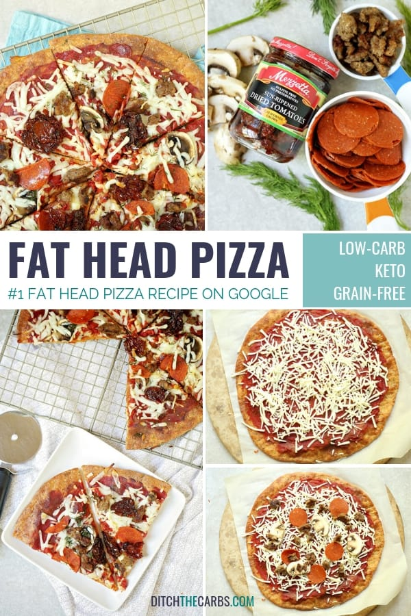This is THE Fat Head pizza recipe, and it just got better - now with it's own quick cooking video. This is Google's number one low carb and keto pizza. Grain free, gluten free, wheat free heaven. | ditchthecarbs.com
