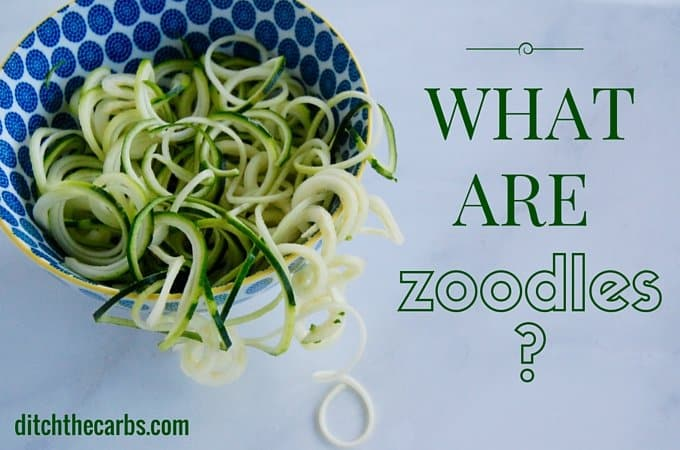 What are zoodles? Click to see an easy recipe for low carb, gluten free, wheat free spaghetti bolognese which is incredibly healthy, fresh and nutritious. #lowcarb #sugarfre #glutenfree | ditchthecarbs.com