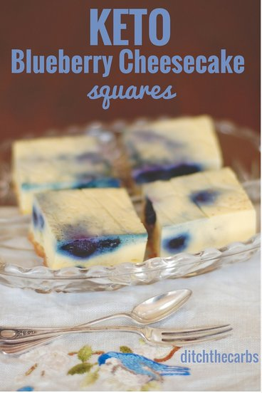 Oh my word. You have seriously got to try these uber easy keto blueberry cheesecake squares. All made with a stick blender and incredibly low in carbs. #sugarfree #lowcarb #keto | ditchthecarbs.com