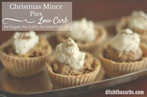 Trying to find a low carb christmas mince pie with no dried fruit, no added sugar and no grains? Well this is it. Oh and did I mention the ah-mazing brandy cream? Give these a go for a special treat. #sugarfree #lchf | ditchthecarbs.com
