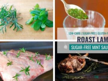 Easy roast lamb with a sugar free mint sauce.