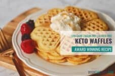 This Keto waffle recipe is the perfect breakfast recipe for meal preppers.