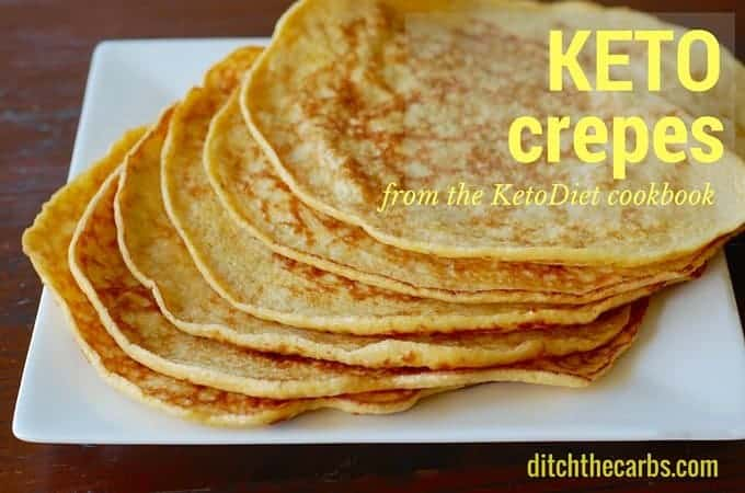 Keto Crepes From The Ketodiet Cookbook