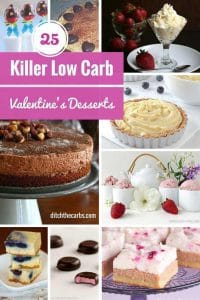 Take a look at these killer 25 low carb Valentine's Day desserts. Incredibly romantic, indulgent and luxurious for this special day. | ditchthecarbs.com