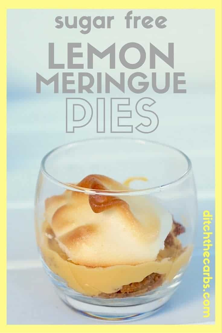 Take look at these easy sugar free and low carb lemon meringue pies. Adapted from I Quit Sugar to low carb with ease. Pin for later. | ditchthecarbs.com