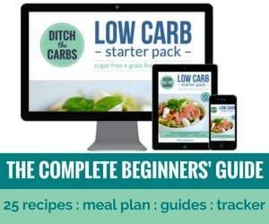 Low carb starter pack - the complete beginners' guide. 25 easy recipes, menu plan, shopping lists, easy to understand guides. | ditchthecarbs.com