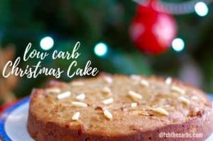 Easy low carb Christmas cake - even my children make this one! Tastes just like the real thing, only healthy. Sugar free, grain free, gluten free. | ditchthecarbs.com