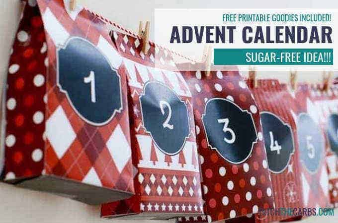 How to make a sugar free advent calendar. FREE printables for bags, activities and gift ideas. | ditchthecarbs.com