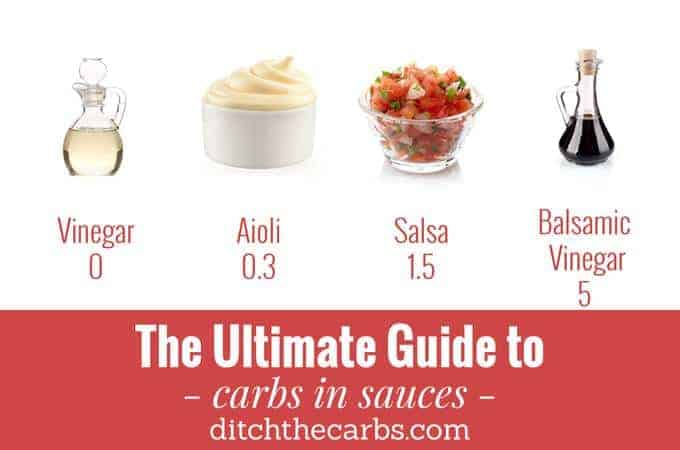 "You have to read this ""Ultimate guide to carbs in sauces"". You will see which to enjoy and which to avoid in an easy photo grid. 