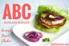 This is the world famous low-carb, ABC bunless burger. Come and see what all the fuss is about. Grain free, gluten free, sugar free. | ditchthecarbs.com