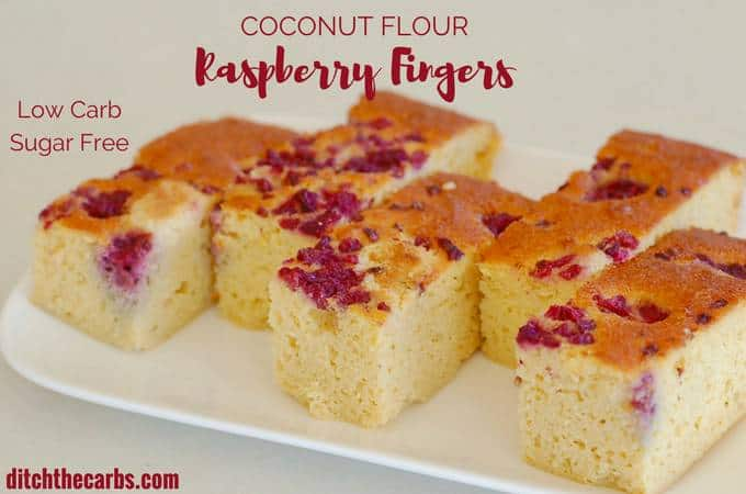 Coconut Flour Raspberry Fingers