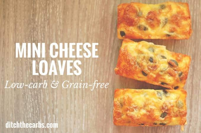 Coconut Flour Mini Cheese Loaves