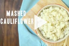 How to make low-carb keto mashed cauliflower. Watch the NEW cooking video just added. #keto #lowcarb #ditchthecarbs #howtomakemashedcauliflower #ketocauliflower #lowcarbcauliflower #easyketorecipes #healthyfamilydinner