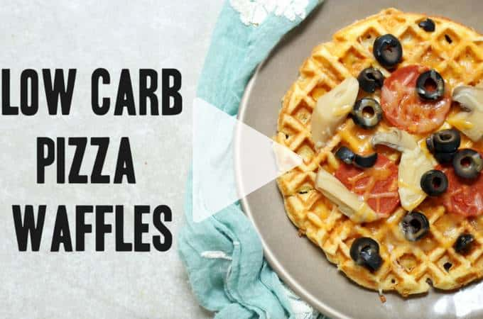 Award winning low-carb pizza waffles are incredibly easy and versatile. The new cooking video makes it fail proof. Grain free, keto, gluten free and healthy fun. | ditchthecarbs.com