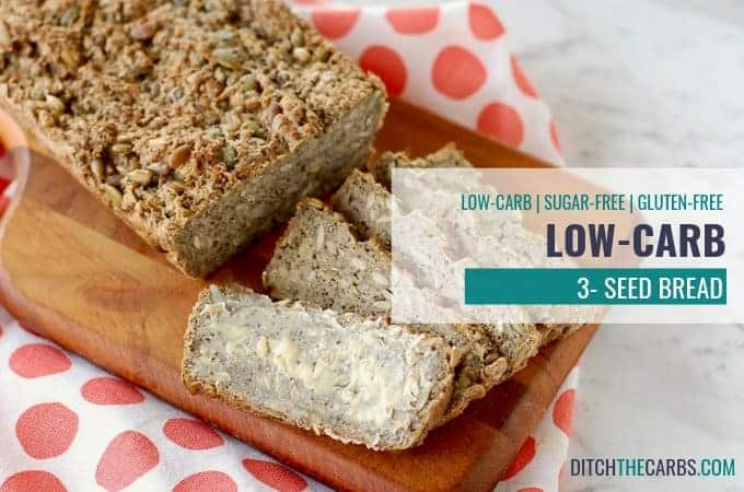 THIS IS IT!!! The famous low-carb 3 seed bread that kiwis and Aussies are raving about. Perfect with melted butter and vegemite or marmite. #ditchthecarbs #glutenfreebread #lowcarbbread #ketobread #healthybread