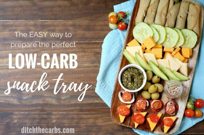 The quick way to prepare easy low-carb snacks for a crowd. Watch the NEW video just added to learn how. | ditchthecarbs.com