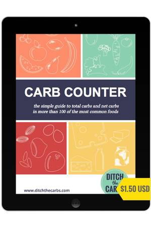 Simple Carb Counter - the 100 most common foods.. | ditchthecarbs.com