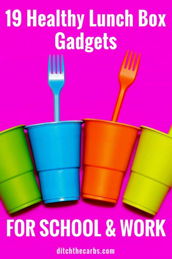 19 Healthy Lunch Box Gadgets - for school AND work!!! We all need help making lunches each day - right?? | ditchthecarbs.com
