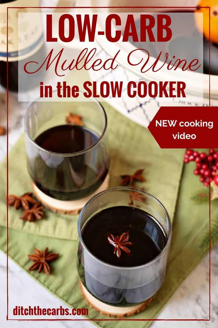 Easy CHEAT'S recipe for slow cooker low-carb mulled wine . Don't tell everyone our secret - the perfect lazy way to entertain guests this festive season. | ditchthecarbs.com