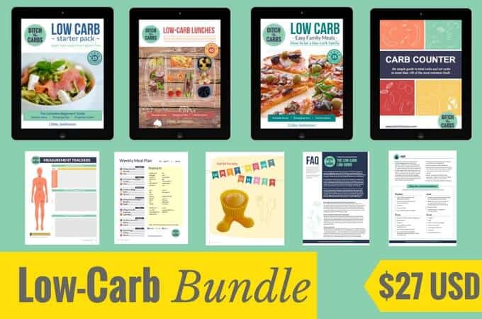 The Ultimate Low-Carb Bundle - everything you need to get started - action plans, guides and healthy fast food. | ditchthecarbs.com