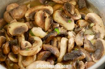 Easy healthy family recipe for low-carb cream of mushroom soup. Follow the step-by-step instructions. #lowcarb #keto #soup #glutenfree | ditchthecarbs.com