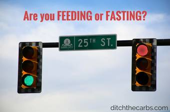 Are you FEEDING or FASTING? How to stop eating all the time. How to control your appetite. #keto #lowcarb #fasting #sugarfree #glutenfree | ditchthecarbs.com