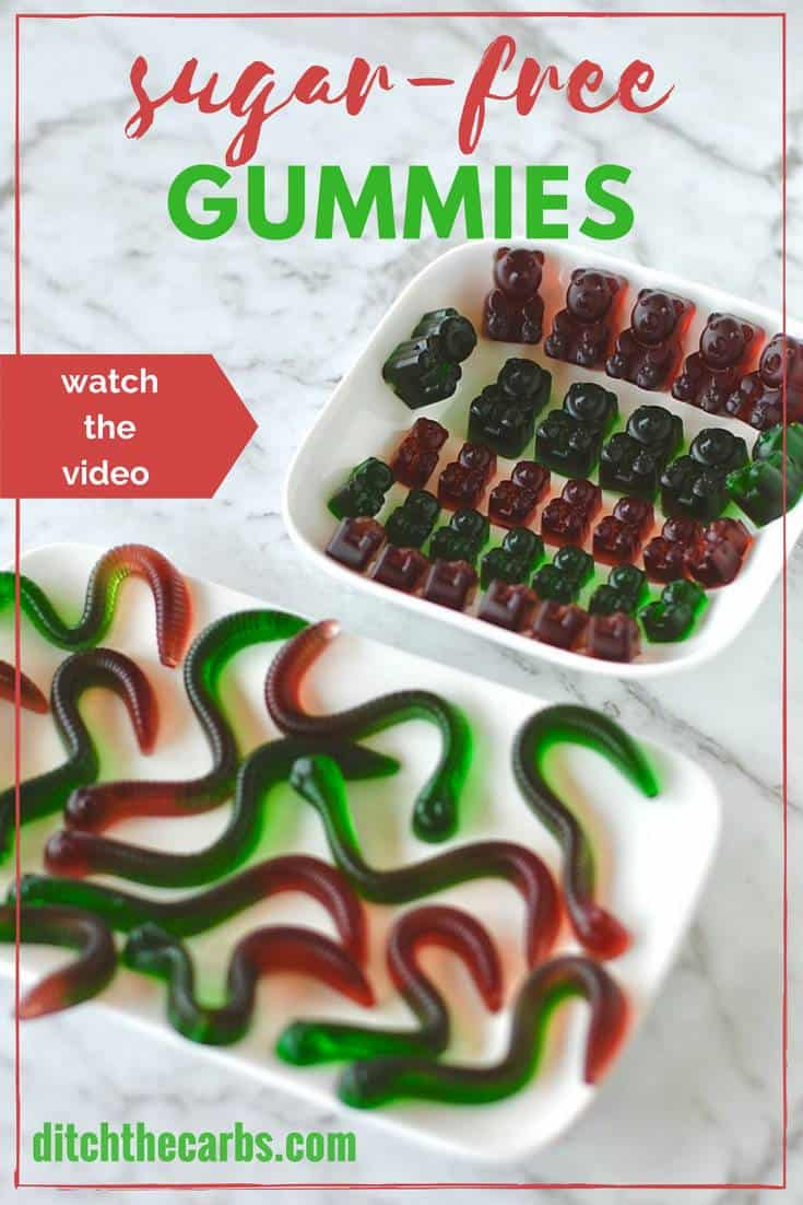 Healthy sugar-free gummies, teddies and worms. #sugarfree #keto #lowcarb #sugarfreegummies