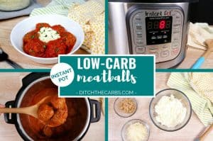 I found it! Easy Low-Carb Instant Pot Meatballs recipe that my entire family loves. #lowcarbinstantpot #instantpot #lowcarb #keto #glutenfree