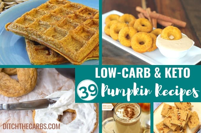Look what I just discovered!!! 39 of the Best Low-Carb and Keto Pumpkin Recipes. Sweet, savoury, drinks and homemade pumpkin pie spice latte. #keto #healthyrecipes #healthypumpkinrecipes #glutenfree #sugarfree #lowcarb #lowcarbpumpkin #healthyhalloween