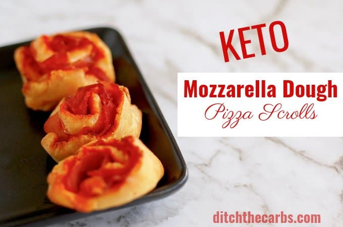 Wow! Mozzarella dough keto pizza scrolls - my kids absolutely LOVE these in their lunch box #healthylunchbox #glutenfreekids #ditchthecarbs #lowcarb #keto #glutenfree #sugarfree #healthyrecipes #familymeals #mozzarelladough #fathead