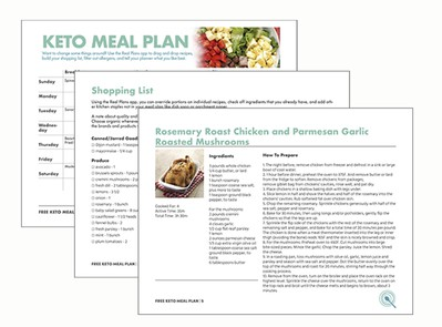 graphic relating to Keto Shopping List Printable known as No cost Keto Weekly Evening meal System help you save season and keep on being upon monitor