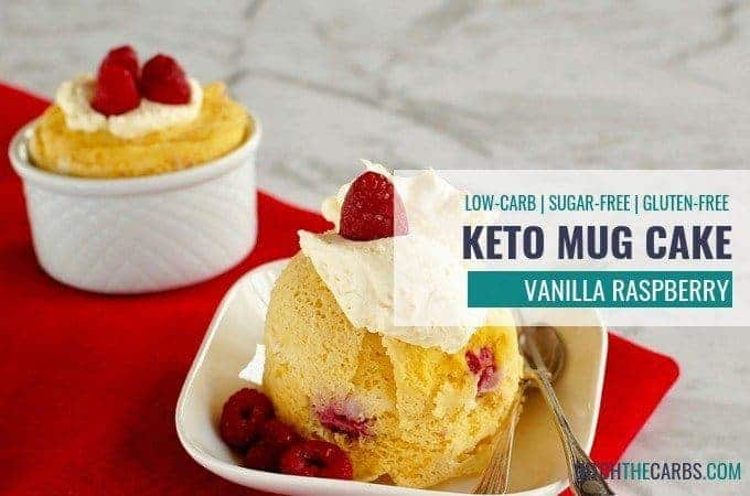 The ULTIMATE quick and easy 1-minute coconut flour keto vanilla berry mug cake