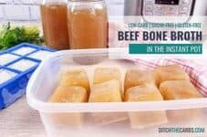Instant Pot Beef Bone Broth has never been so easy! #instantpotbeefbonebroth #bonebroth #ditchthecarbs #lowcarb #keto #glutenfree #sugarfree #healthyrecipes #familymeals