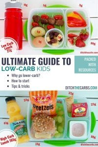 The Ultimate Guide to Low-Carb For Kids #DitchtheCarbs #LowCarbforKids #keto #glutenfree #healthyrecipes #lunchboxideas #healthyschoollunch