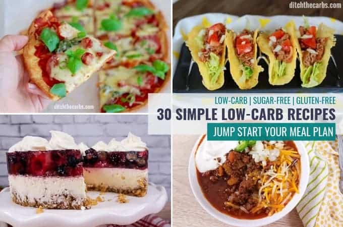 Make meal planning simpler with these low-carb recipes. #ditchthecarbs #lowcarb #keto #glutenfree #sugarfree #healthyrecipes #familymeals