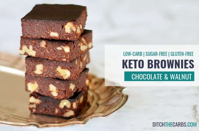 This is it! The PERFECT Keto Chocolate Walnut Brownies. #ditchthecarbs #lowcarbrecipes #lowcarbdiet #lchf #nosugars #glutenfree #grainfree #lowcarbfamily #sugarfreebrownie #sugarfreechocolate #ketobrownie #lowcarbbrownie