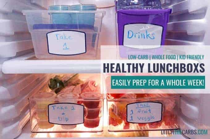 Prepping these healthy lunches makes my morning so much easier! #healthylunchboxprepping #mealprep #ditchthecarbs #lowcarb #keto #glutenfree #sugarfree #healthyrecipes #familymeals
