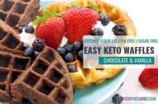 How To Make Chocolate and Vanilla Keto Waffles, an easy healthy coconut flour recipe.