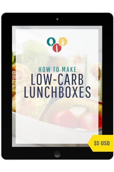 Ultimate low-carb lunchbox book guide mockup ipad